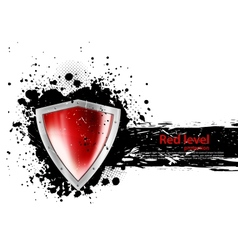 Grunge background with shield vector image vector image