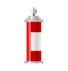 pixel spray can pixel grafitti art cartoon retro vector image