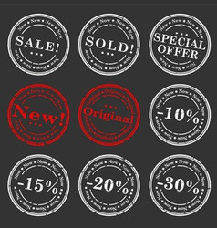 sale stamp vector set vector image vector image