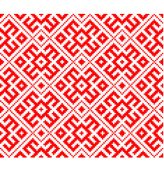 traditional ethnic russian slavic ornament vector image