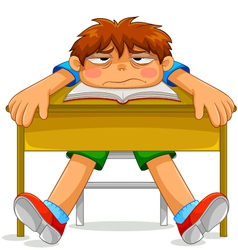 unhappy student vector image