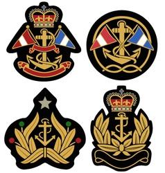 classic nautical royal emblem badge shield vector image vector image