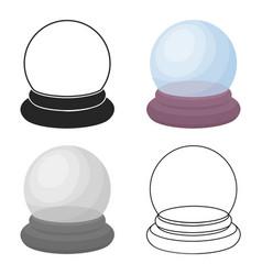 Crystal ball icon in cartoon style isolated on vector