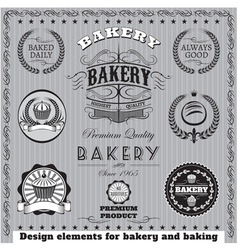 Icons for baking and bakery vector