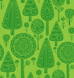 Seamless pattern with trees vector image vector image