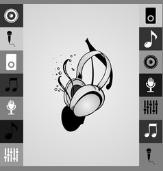 a a large pair music headphones vector image
