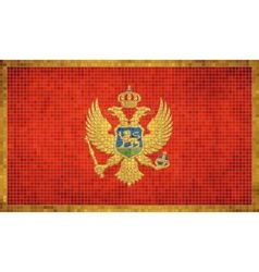 Abstract Mosaic Flag of Montenegro vector