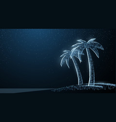 abstract wire low poy palm nature summer beach vector image