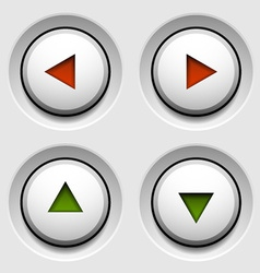 arrow white circle buttons vector image