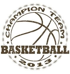 Basketball label vector
