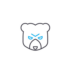 bear market thin line stroke icon bear vector image