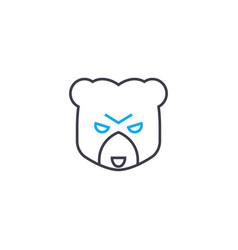 bear market thin line stroke icon bear vector image