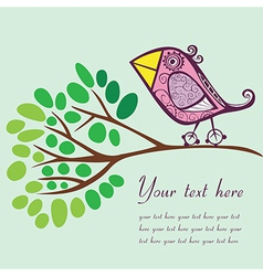 Bird on a branch with place for your text vector