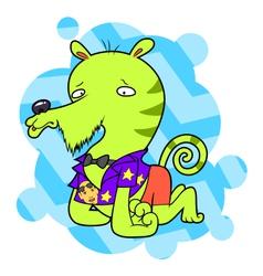 Bizarre sad creature vector image
