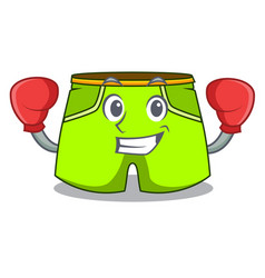 Boxing character style short pant for hangout vector
