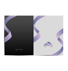 Branding folder design vector