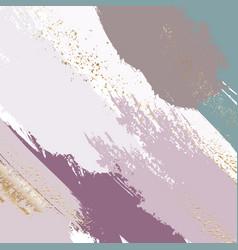 Brush strokes in gentle violet grey grunge tones vector