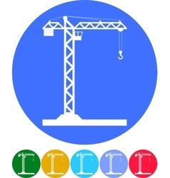Building Tower crane icon vector