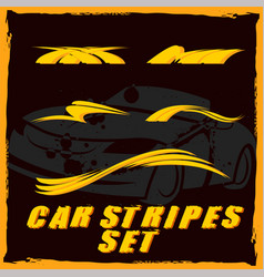 Car stripe design set to print and cut on vinyl vector