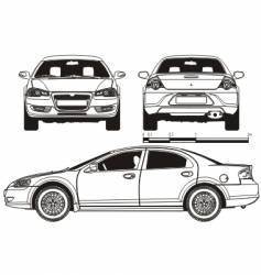 Car technical draft vector