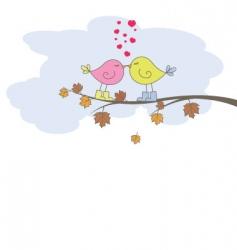card with artist bird vector image