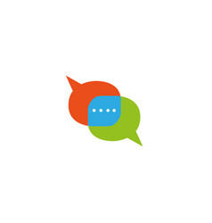 chat icon communication company and message vector image