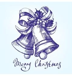 christmas bells hand drawn vector image