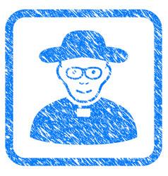 church shepherd framed stamp vector image