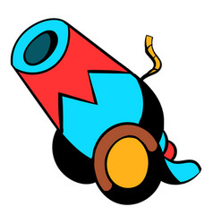 circus cannon icon cartoon vector image