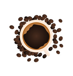 coffee banner coffee time cup grain vector image