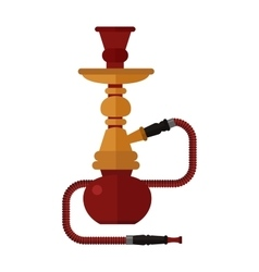 Colorful modern smoke hookah flat vector image