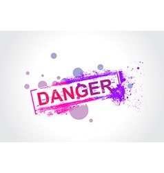 Danger grunge tag vector