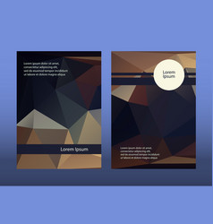 dark brochure leaflets low vector image