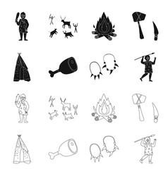 Design evolution and neolithic symbol vector