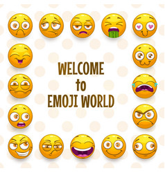emoji frame funny background with comic vector image