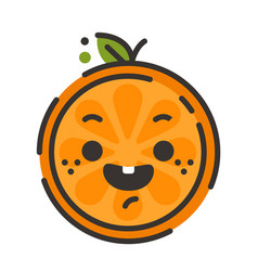 Emoji - laughing orange smile isolated vector