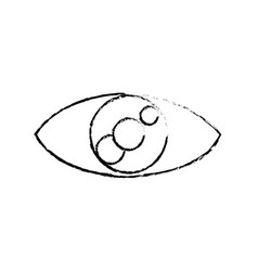 Eye look vision optic cartoon icon vector