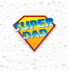Fathers day design over blue dotted background vector