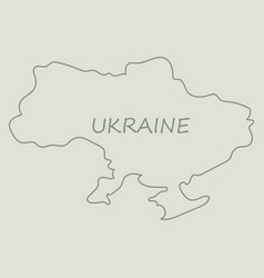 flag map of ukraine vector image