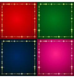Flash Backgrounds set vector image