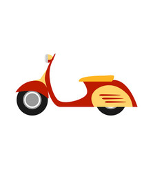 flat style scooter isolated vector image