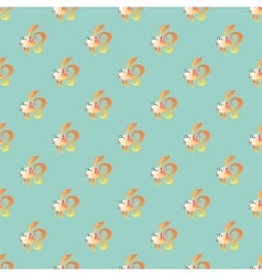 goldfish marine seamless pattern background vector image