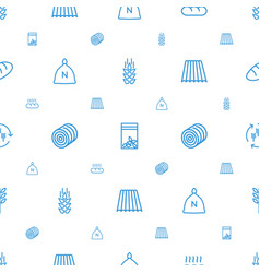 Grain icons pattern seamless white background vector
