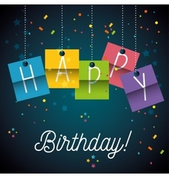 Happy birthday design isolated vector