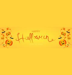 happy halloween trick or treat banner vector image