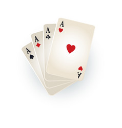 hearts spades clubs diamonds ace playing cards vector image