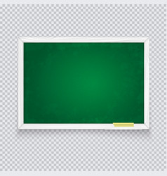 horizontal green chalk board made white wood vector image