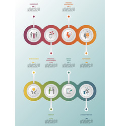 Infographic business management template icons vector