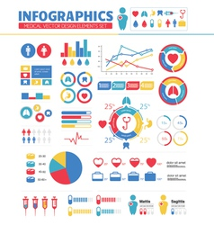 Infographic Medical Design Elements Set vector