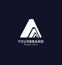 Initial letter a logo mountain design concept for vector